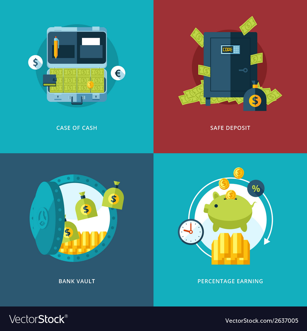 Finance and money icons set vector | Price: 1 Credit (USD $1)