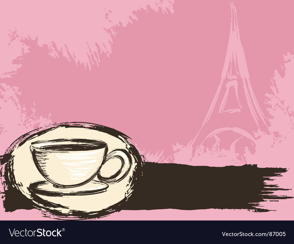 French coffee background vector | Price: 1 Credit (USD $1)