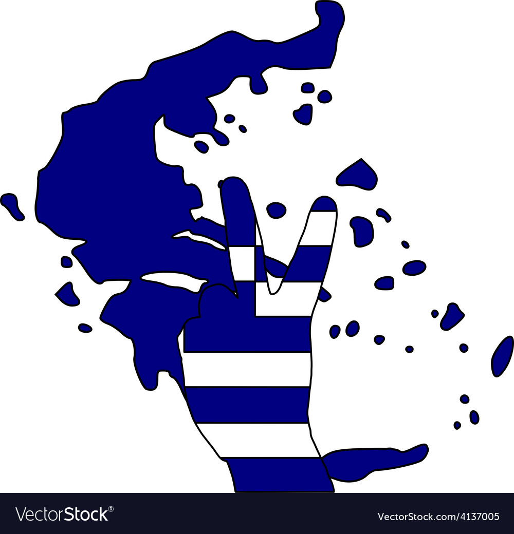 Greece hand signal vector | Price: 1 Credit (USD $1)