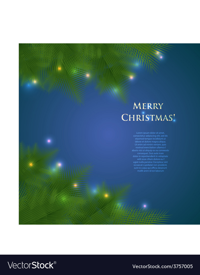 Greeting christmas card with spruce branches and vector | Price: 1 Credit (USD $1)