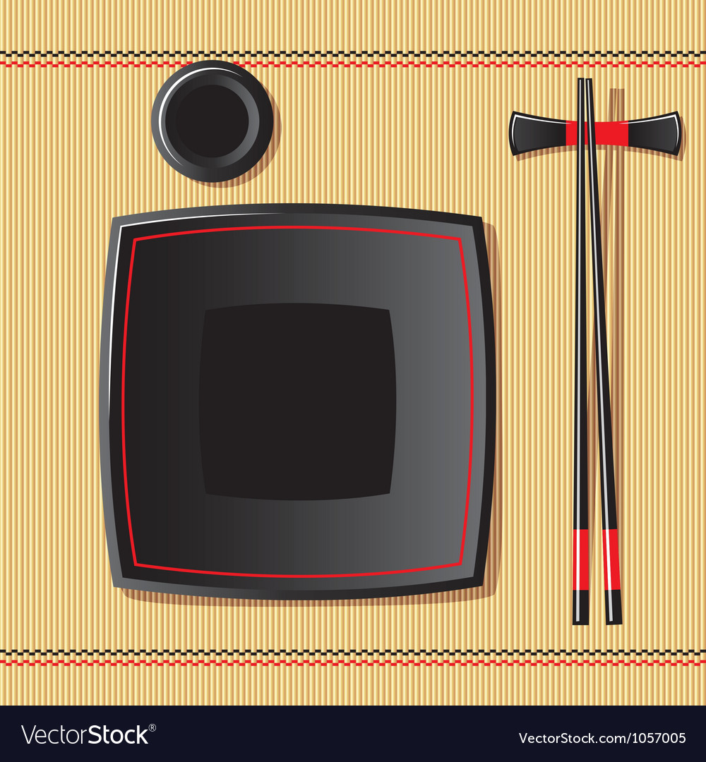 Japanese tableware vector | Price: 1 Credit (USD $1)
