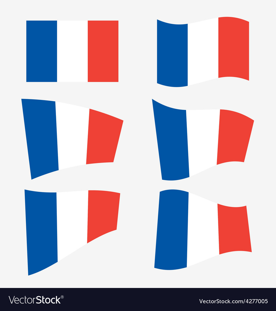 Set of french flags vector | Price: 1 Credit (USD $1)