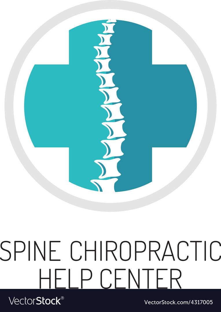 Spine chiropractic diagnostic and help center logo vector | Price: 1 Credit (USD $1)
