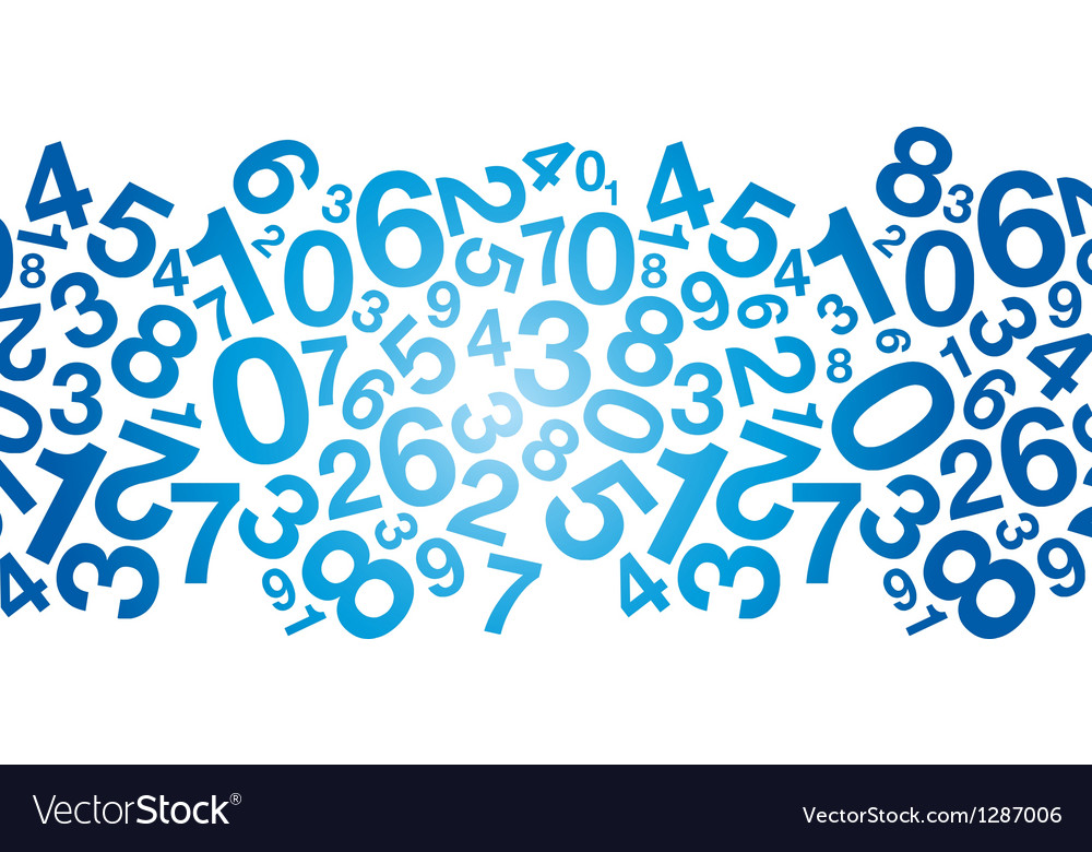 Blue number background vector | Price: 1 Credit (USD $1)
