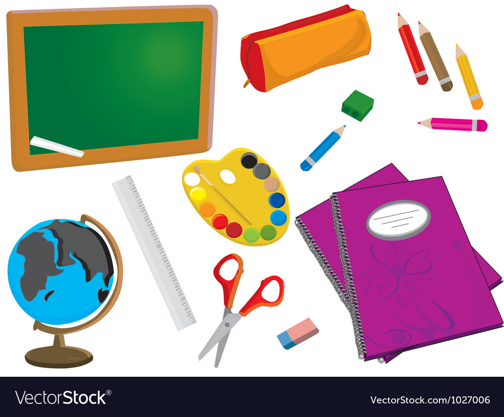 Classroom items vector | Price: 1 Credit (USD $1)