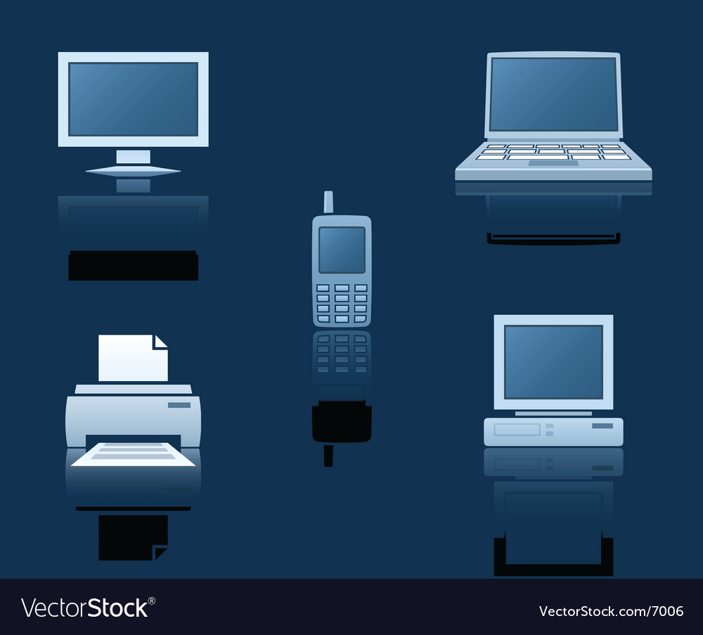 Computer equipment vector | Price: 1 Credit (USD $1)