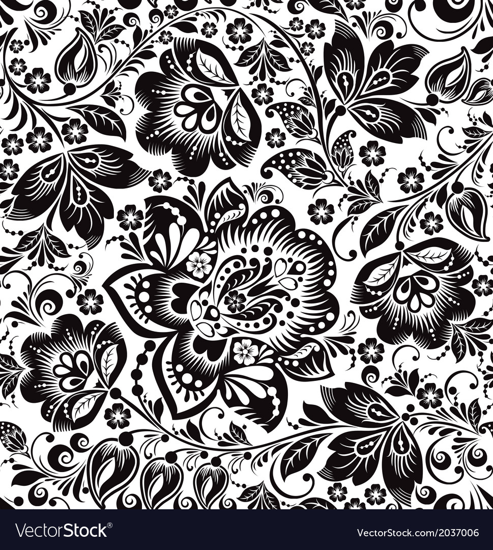 Floral background russian traditional ornament vector | Price: 1 Credit (USD $1)