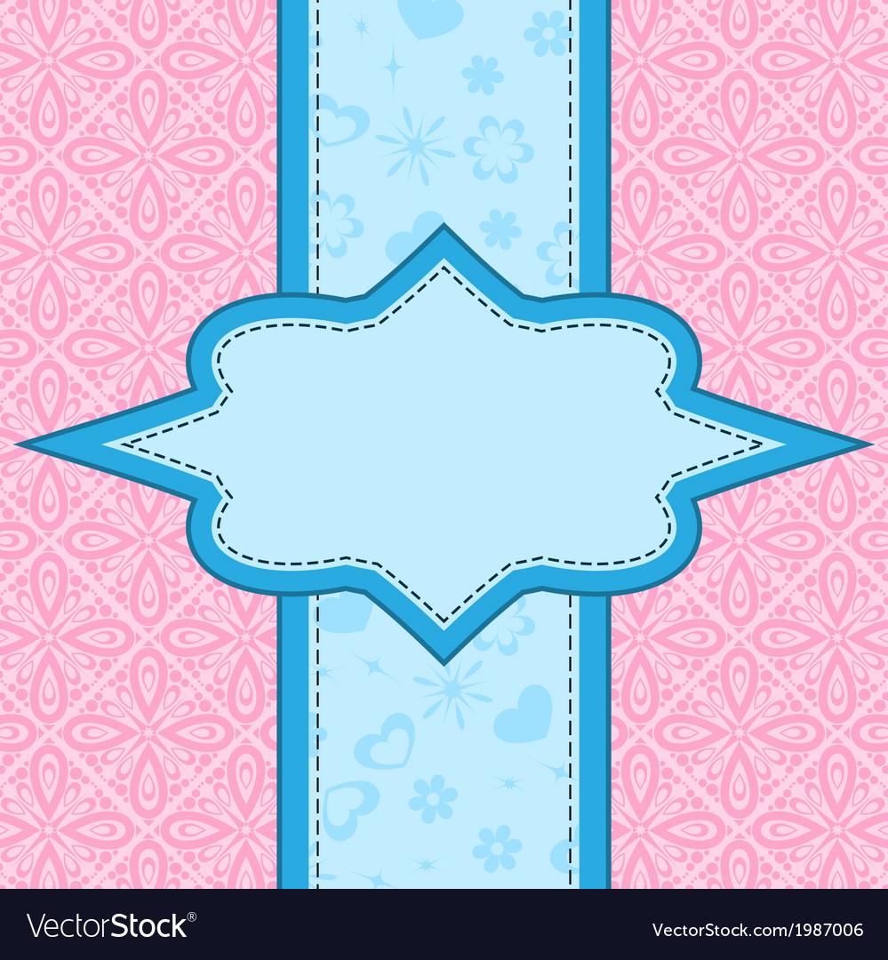 Frame over floral background vector | Price: 1 Credit (USD $1)