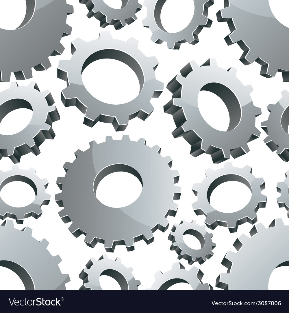 Gears seamless background vector | Price: 1 Credit (USD $1)