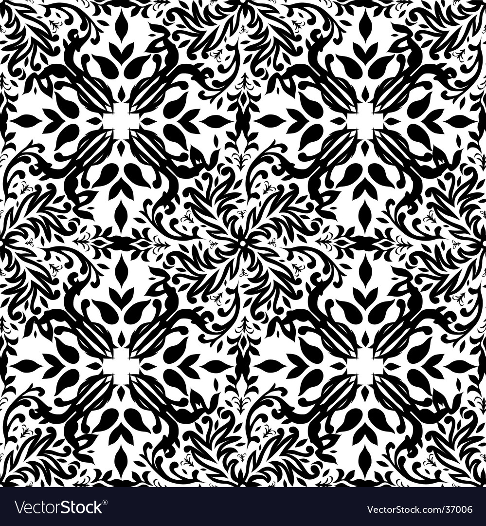 Gothic mono floral vector | Price: 1 Credit (USD $1)