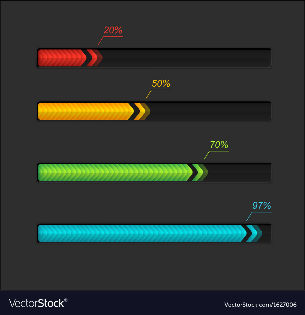 Progress loading bars vector | Price: 1 Credit (USD $1)