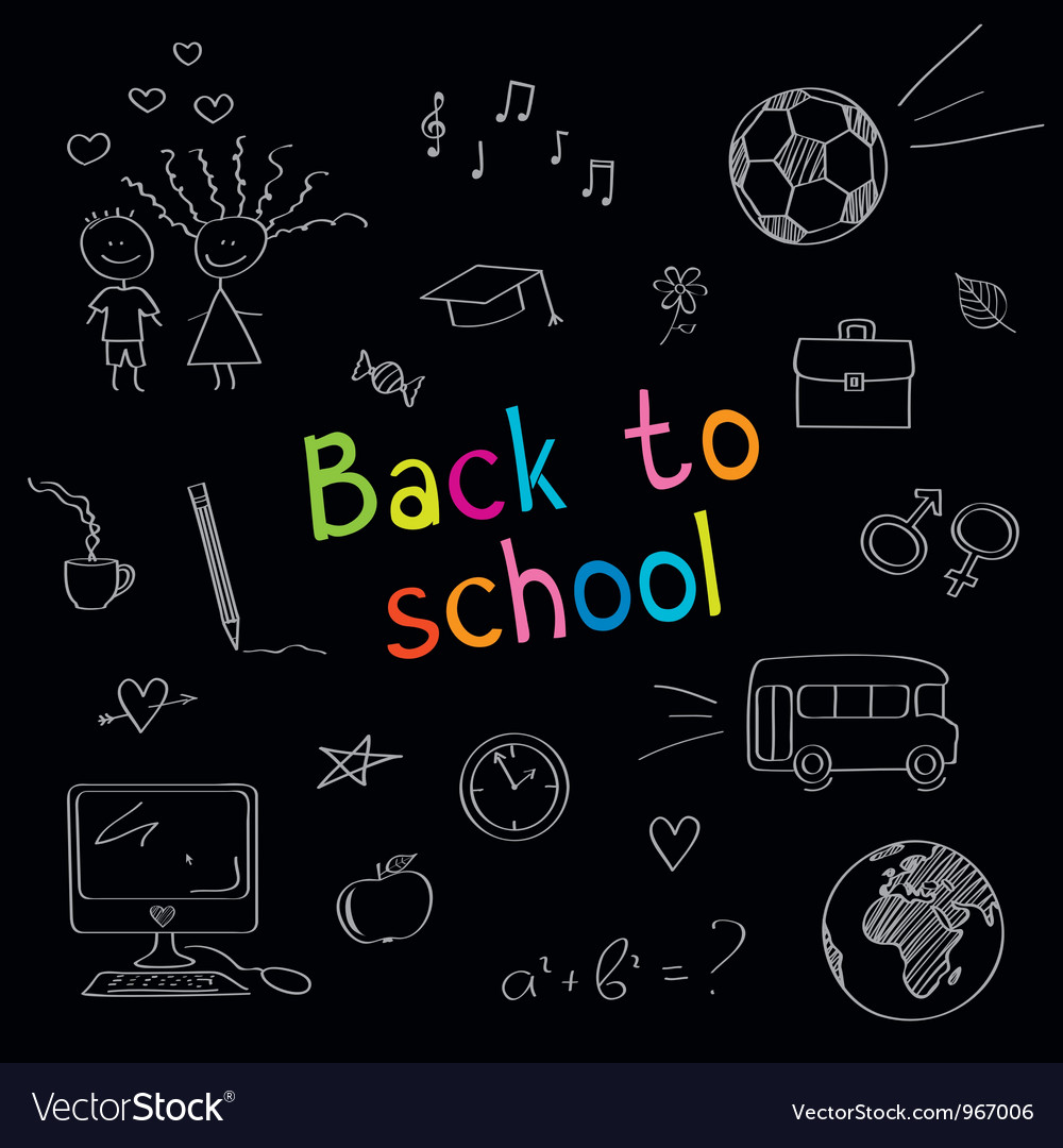 School doodles vector | Price: 1 Credit (USD $1)