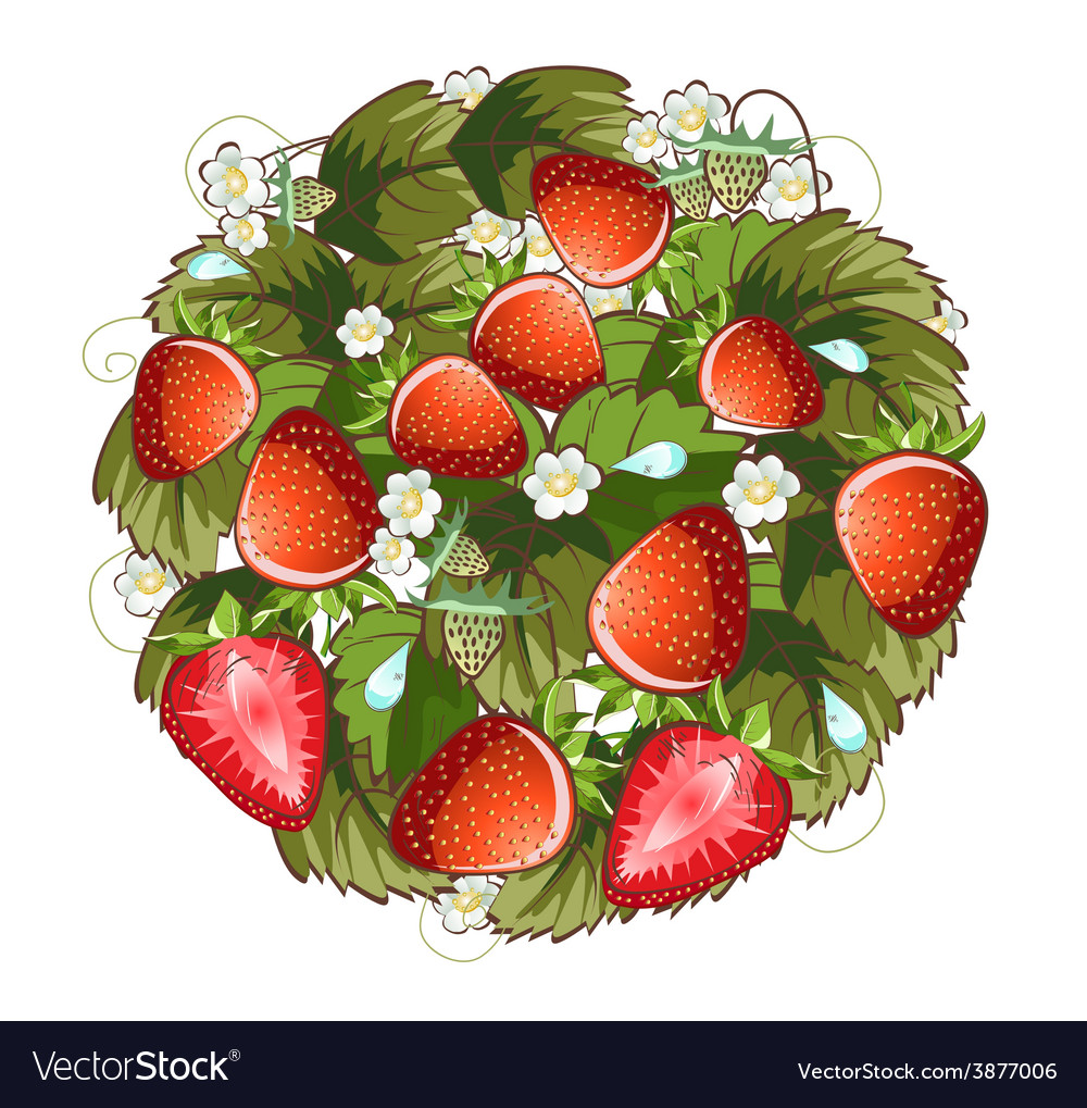 Strawberry ring vector   Price: 1 Credit (USD $1)