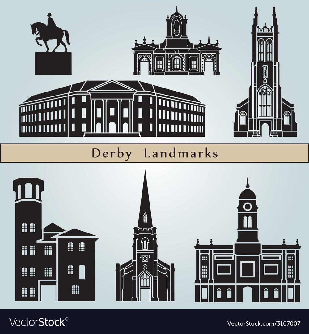 Derby landmarks and monuments vector | Price: 1 Credit (USD $1)