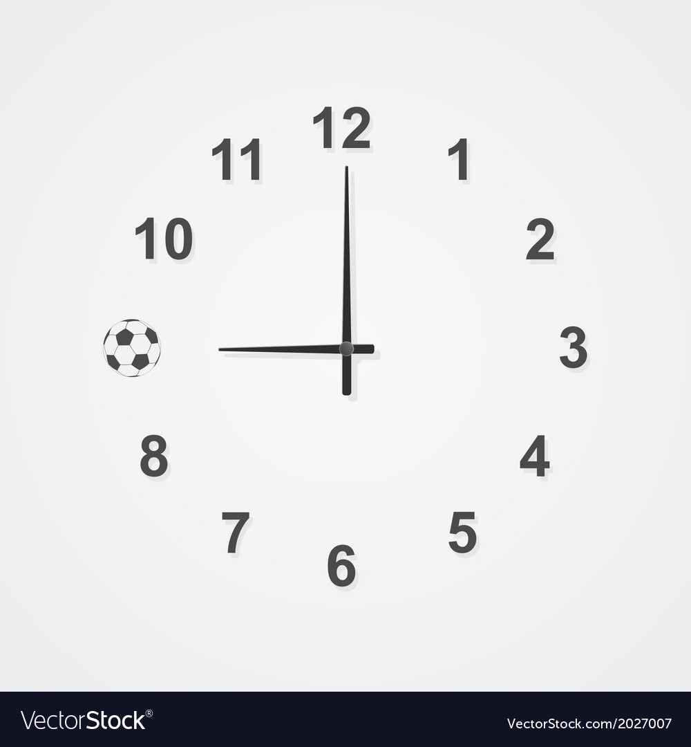 Football clock 2 vector | Price: 1 Credit (USD $1)