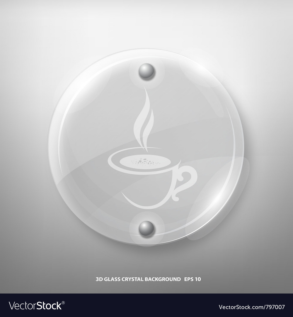 Glass crystal marking a cup of coffee vector | Price: 1 Credit (USD $1)