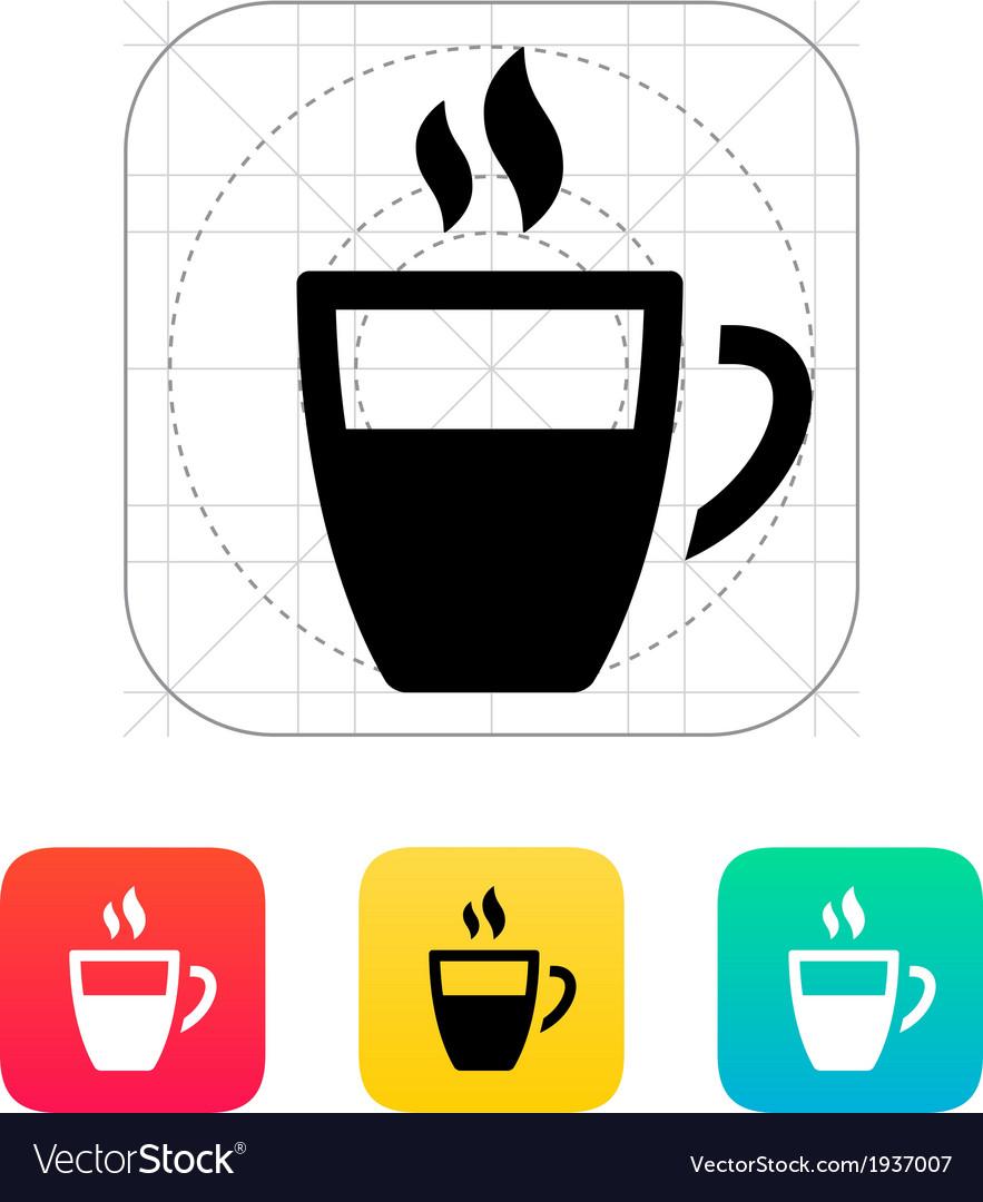 Half coffee cup icon vector | Price: 1 Credit (USD $1)