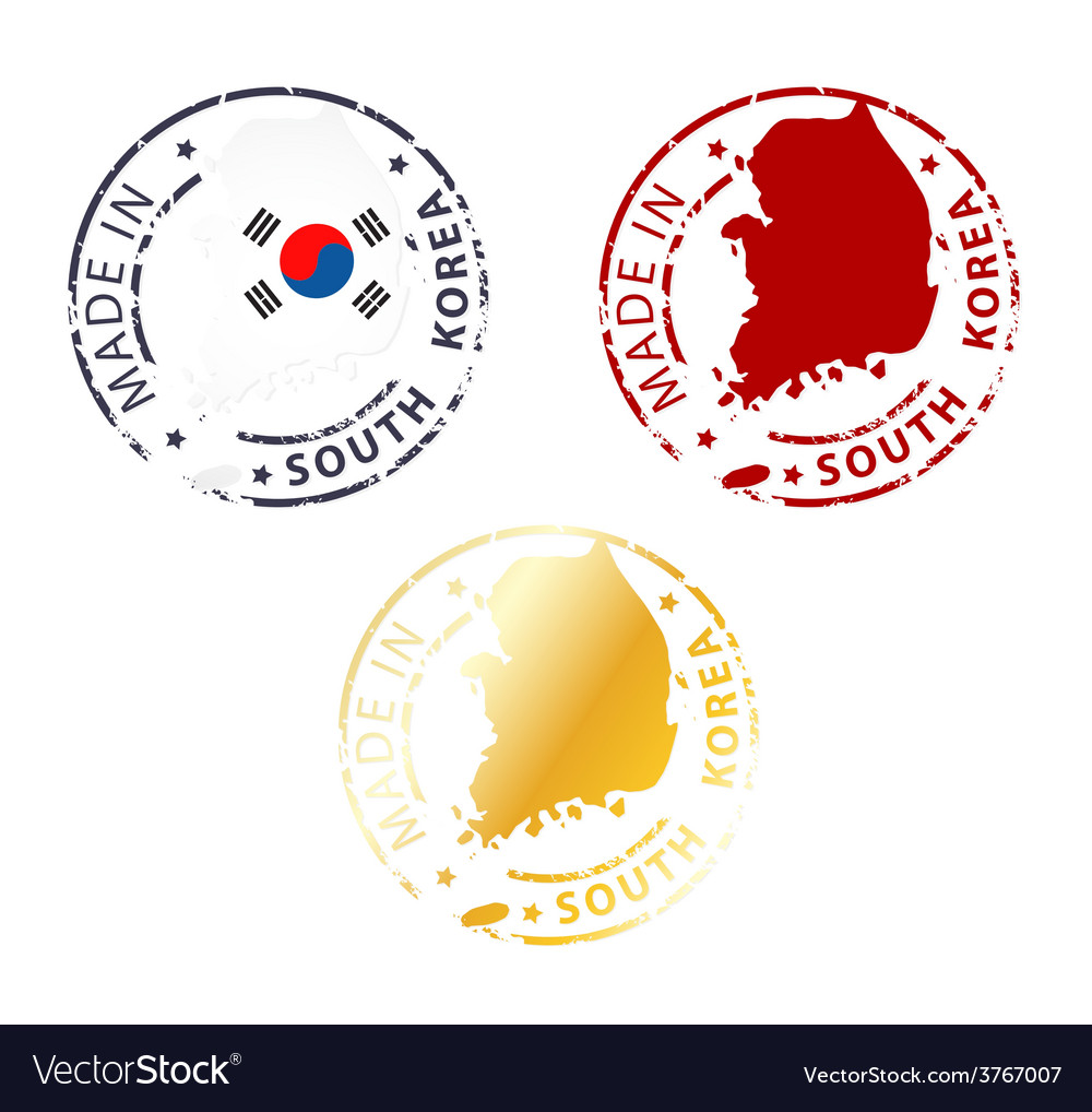 Made in south korea stamp vector | Price: 1 Credit (USD $1)