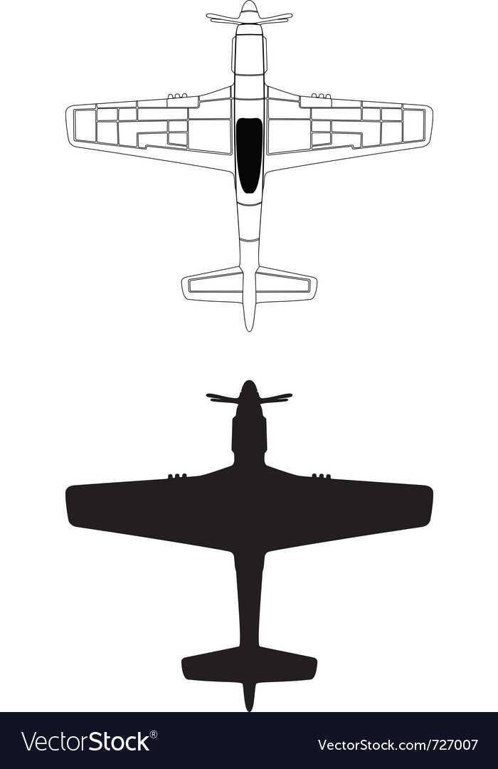 P-51 mustang vector | Price: 1 Credit (USD $1)