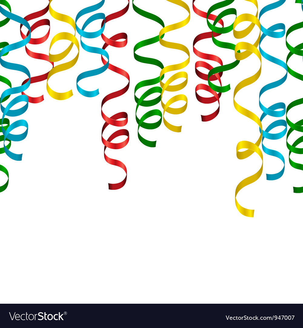 Party streamers background vector | Price: 1 Credit (USD $1)