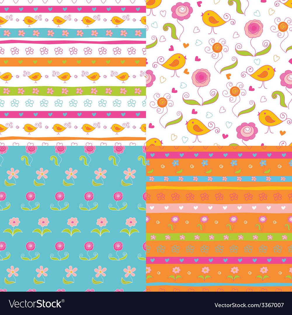 Set of fairy doodle patterns vector | Price: 1 Credit (USD $1)