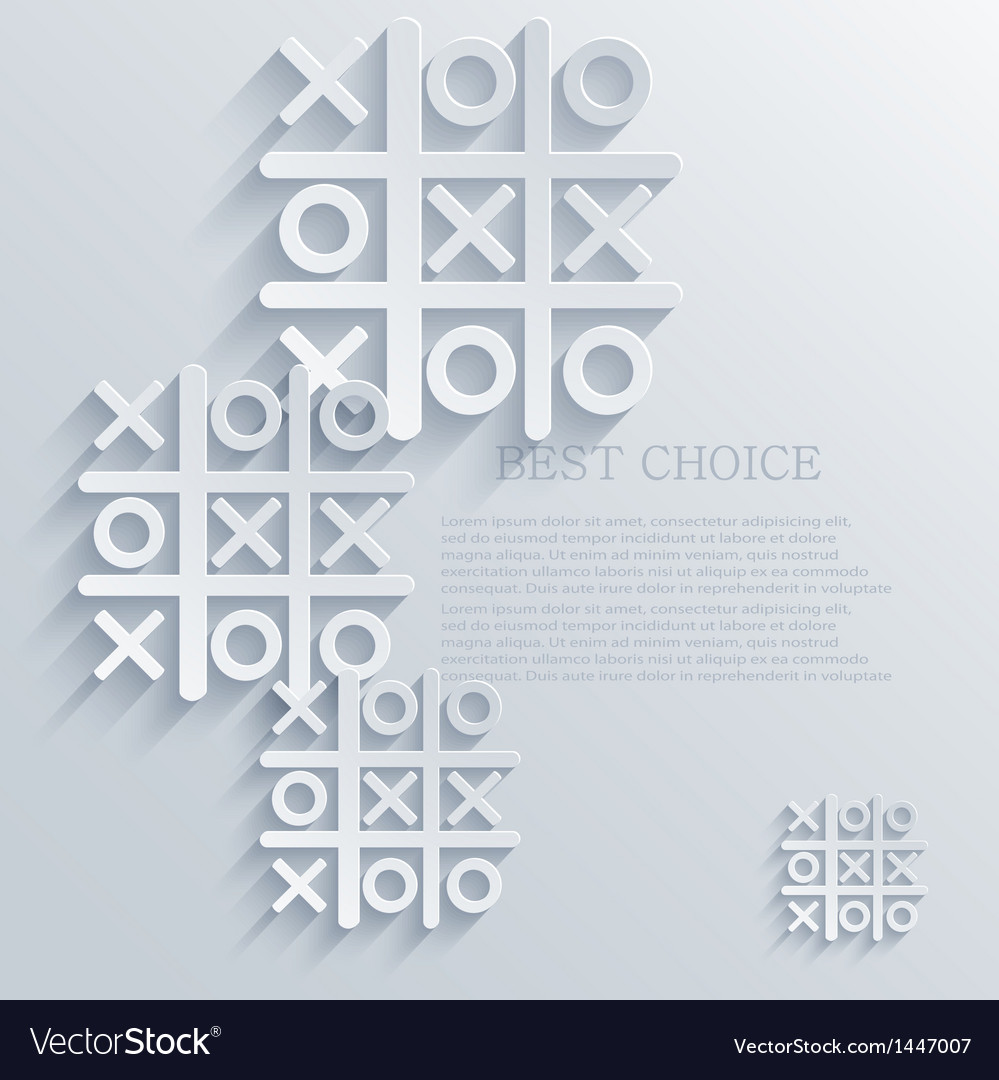 Tic tac toe background eps10 vector | Price: 1 Credit (USD $1)