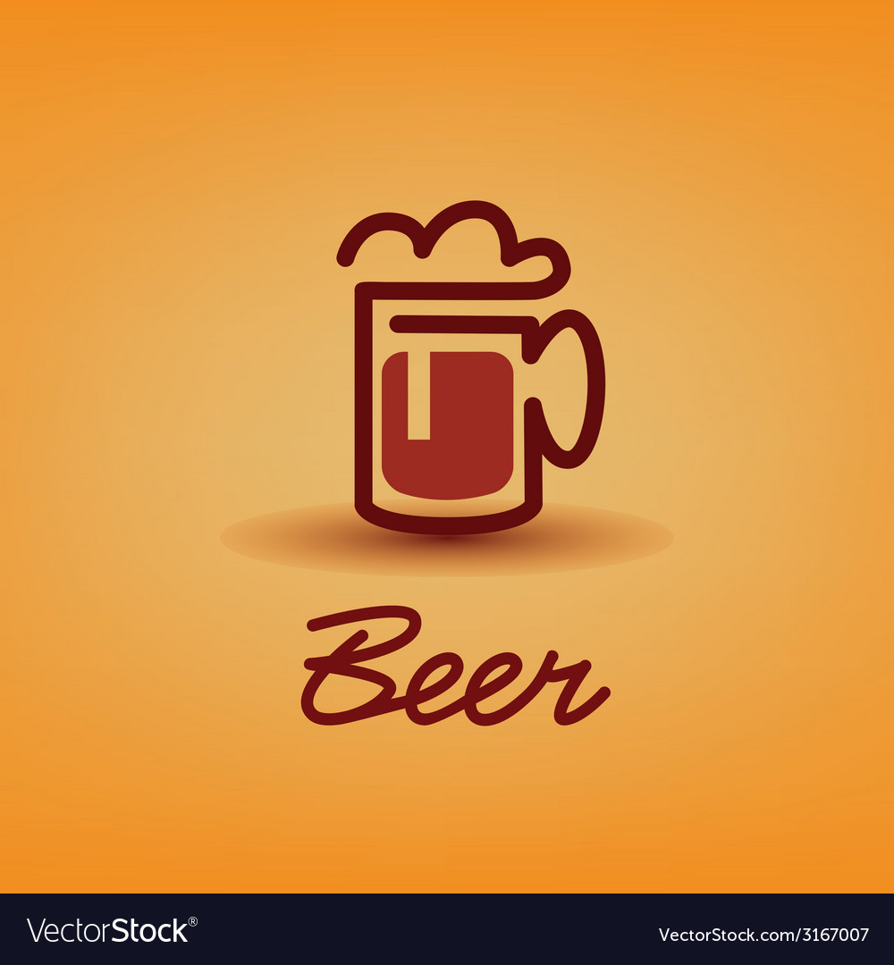 Traditional beer cup symbol vector | Price: 1 Credit (USD $1)