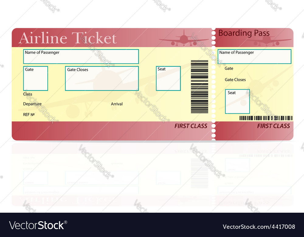 Airline ticket 02 vector | Price: 1 Credit (USD $1)