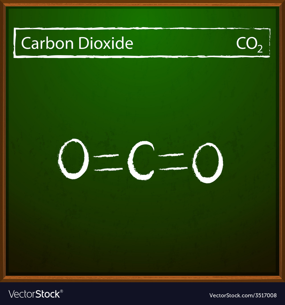 Carbon dioxide molecules vector | Price: 1 Credit (USD $1)