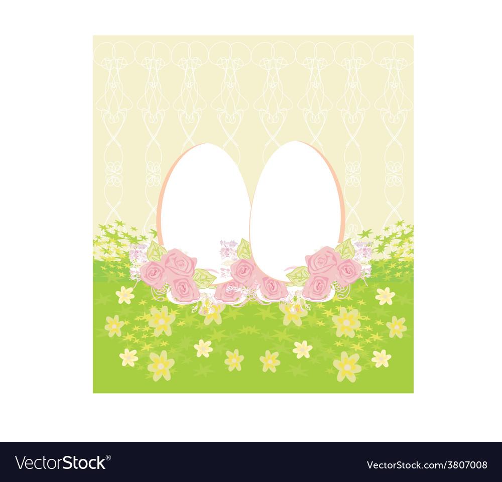 Easter egg on grunge background vector | Price: 1 Credit (USD $1)