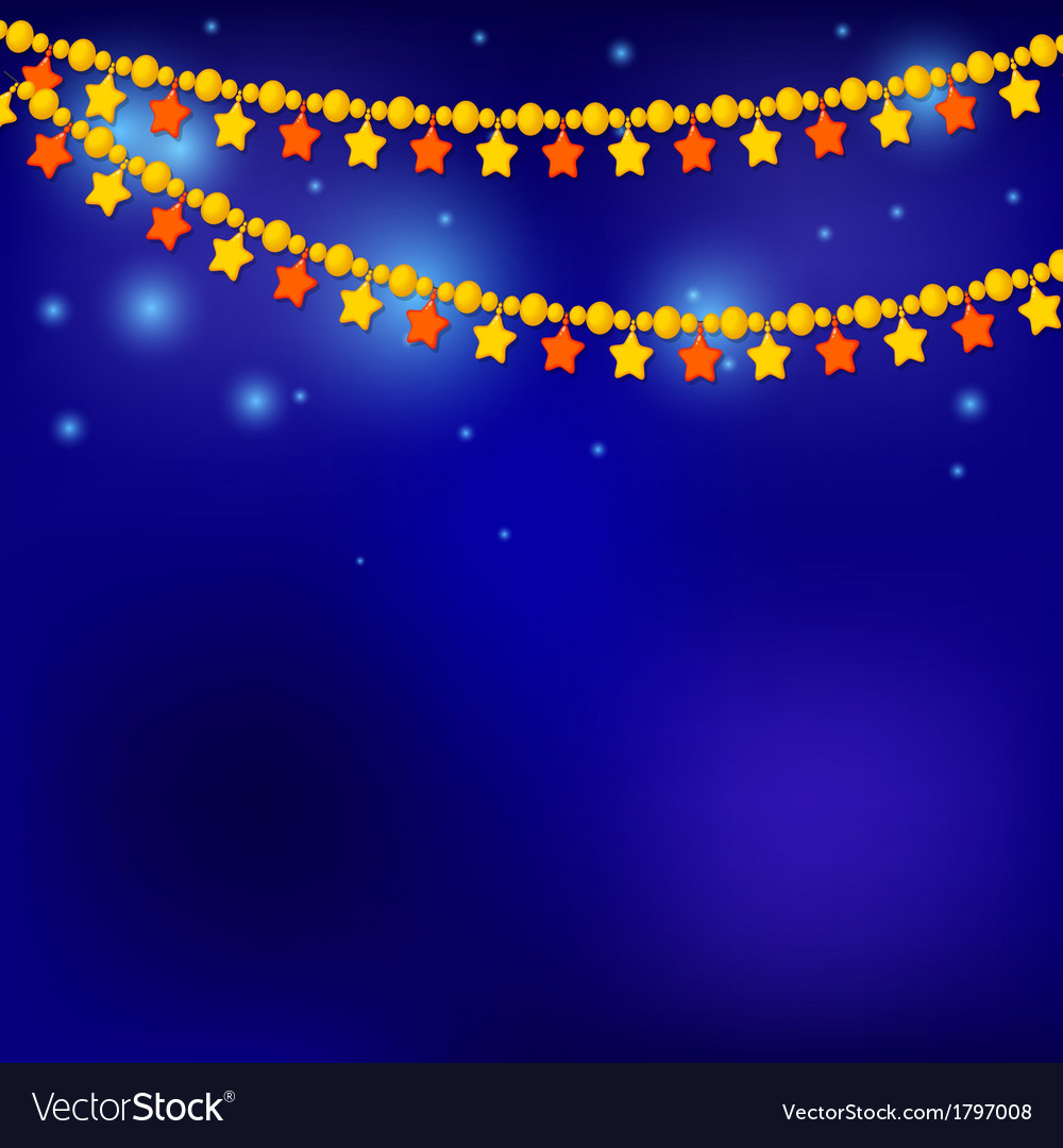 Golden christmas stars on blue background vector | Price: 1 Credit (USD $1)