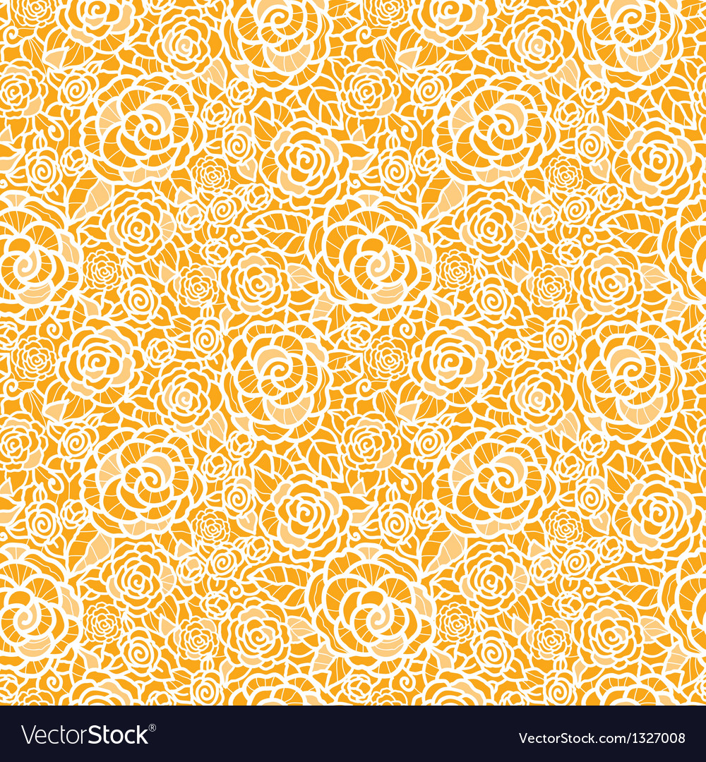 Golden lace roses seamless pattern background vector | Price: 1 Credit (USD $1)