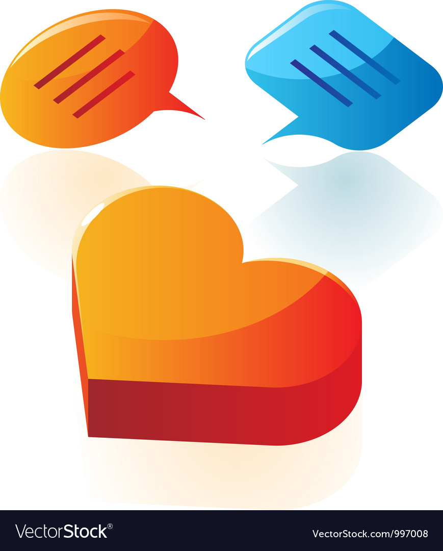 Love conversation icons vector | Price: 1 Credit (USD $1)