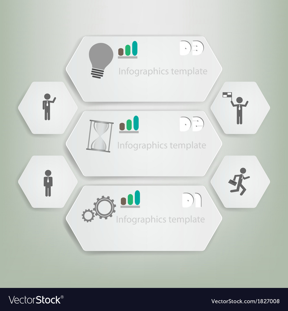 Minimal style infographic template vector | Price: 1 Credit (USD $1)