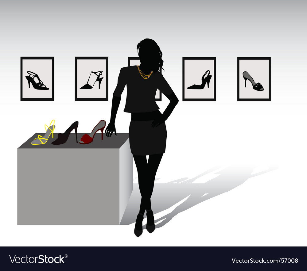 Shoes shop vector | Price: 1 Credit (USD $1)
