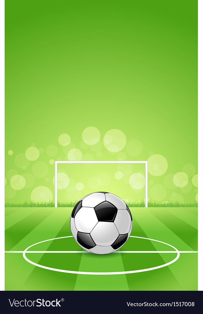 Soccer ball on green background vector | Price: 1 Credit (USD $1)