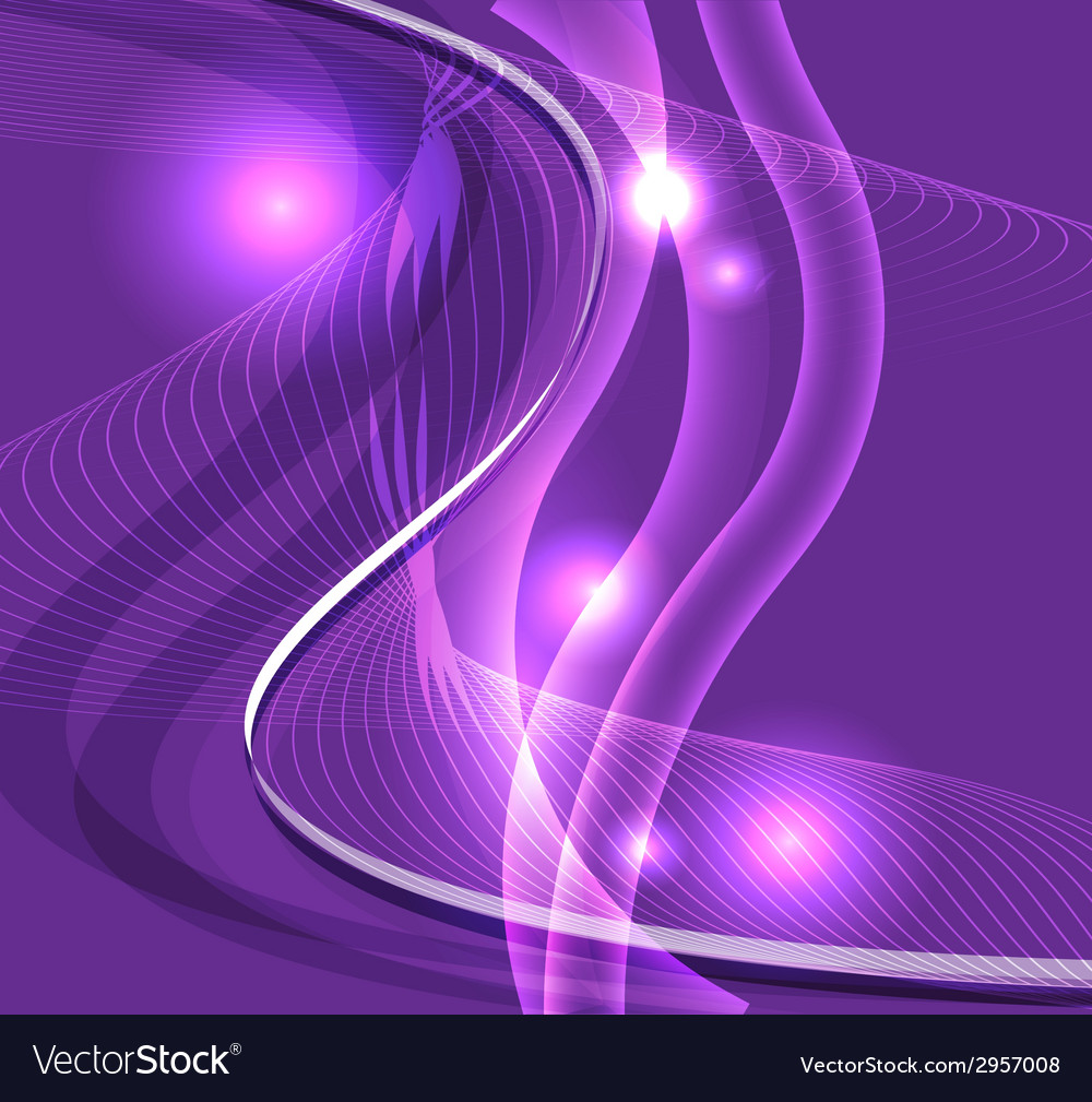 Wave line burst purple background vector | Price: 1 Credit (USD $1)
