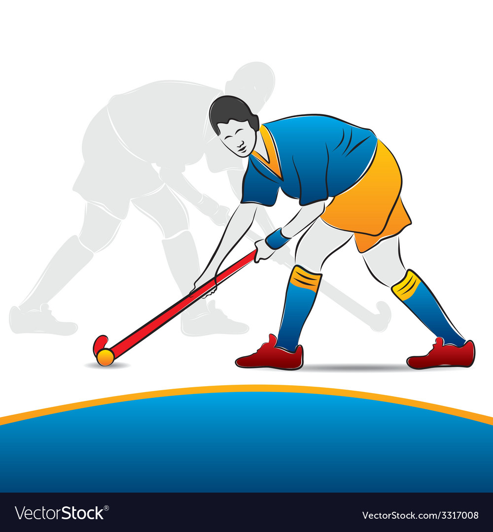 Women hockey player vector | Price: 1 Credit (USD $1)