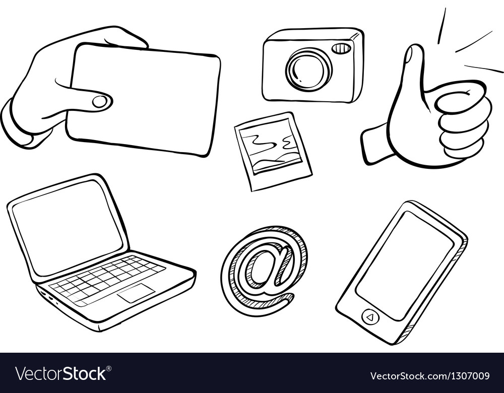 Different kinds of gadgets vector | Price: 1 Credit (USD $1)