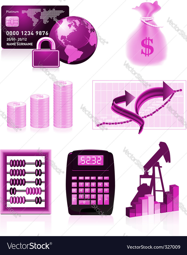 Finance design elements vector | Price: 1 Credit (USD $1)