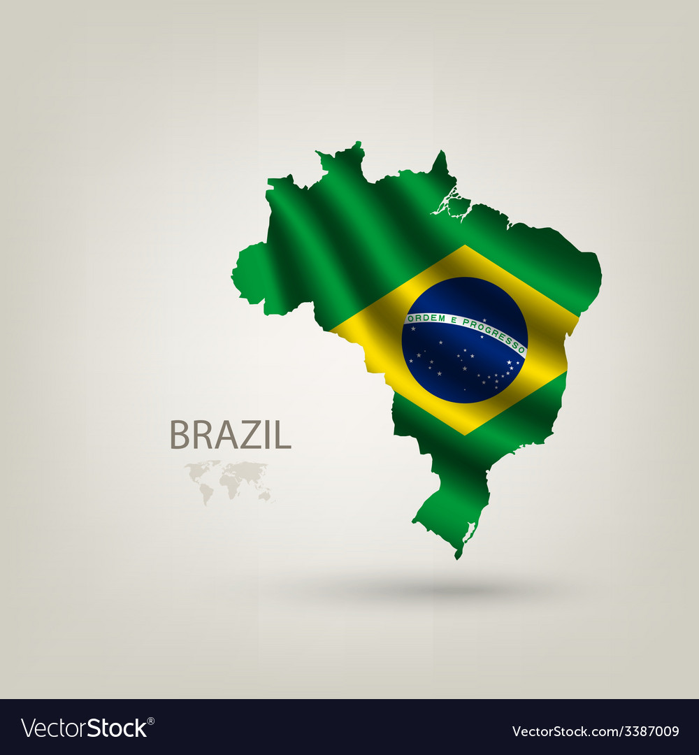 Flag of brazil as a country vector | Price: 3 Credit (USD $3)