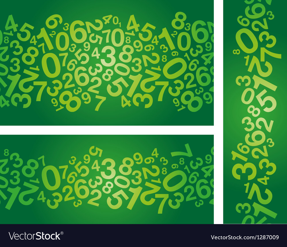 Green number background vector | Price: 1 Credit (USD $1)