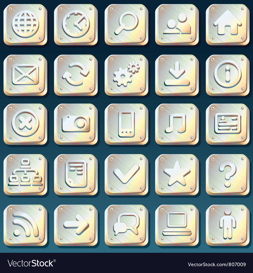 Metallic buttons vector | Price: 1 Credit (USD $1)