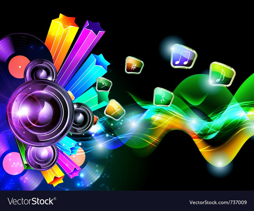 Music speacker background vector