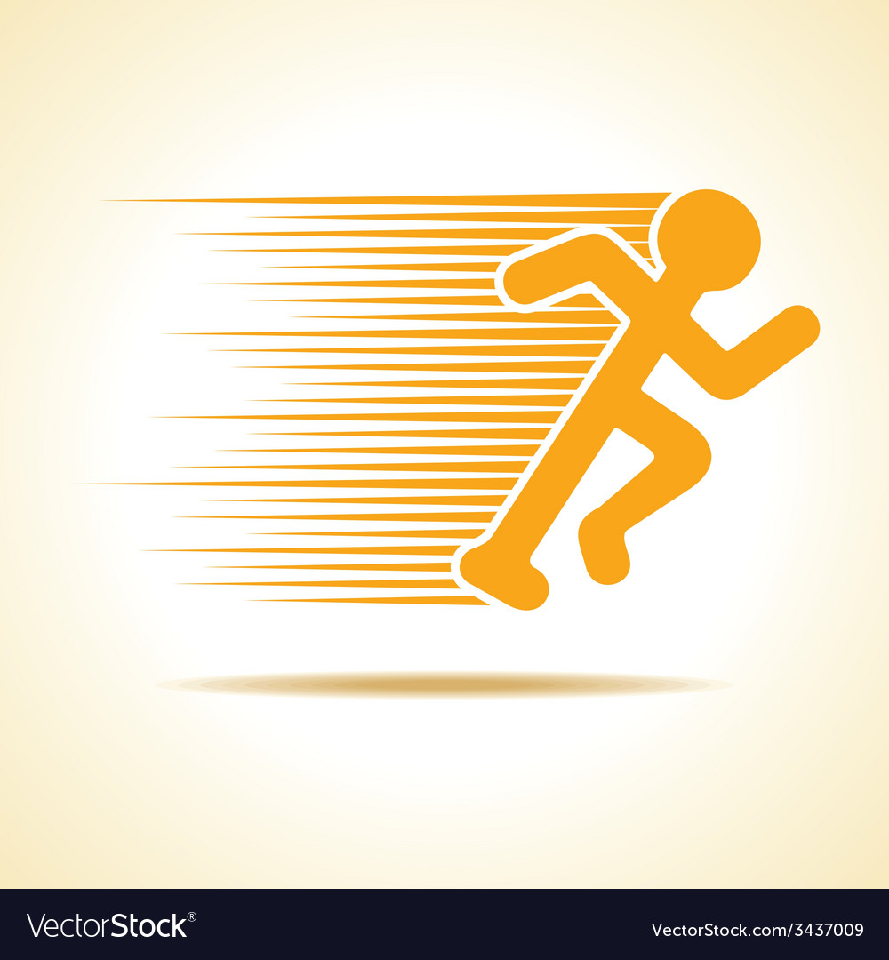 Running man icon vector | Price: 1 Credit (USD $1)
