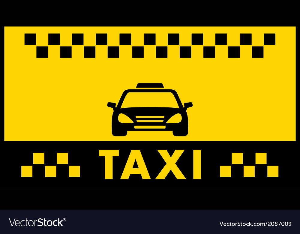 Taxi background with cab silhouette vector | Price: 1 Credit (USD $1)