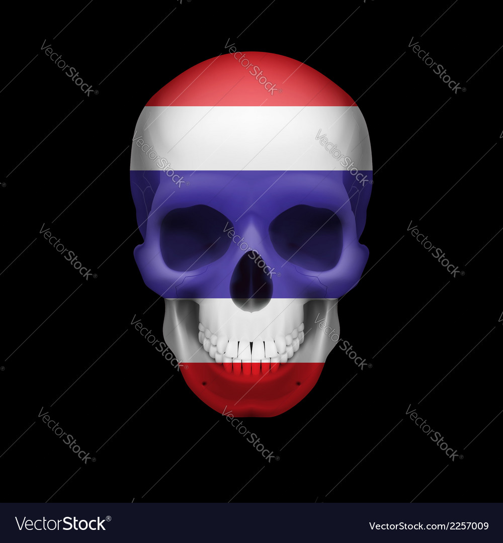 Thai flag skull vector | Price: 1 Credit (USD $1)