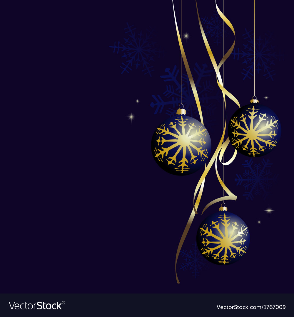 Winter background with a christmas decoration vector | Price: 1 Credit (USD $1)