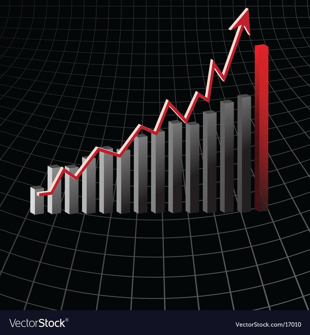 Bar graph design vector   Price: 1 Credit (USD $1)
