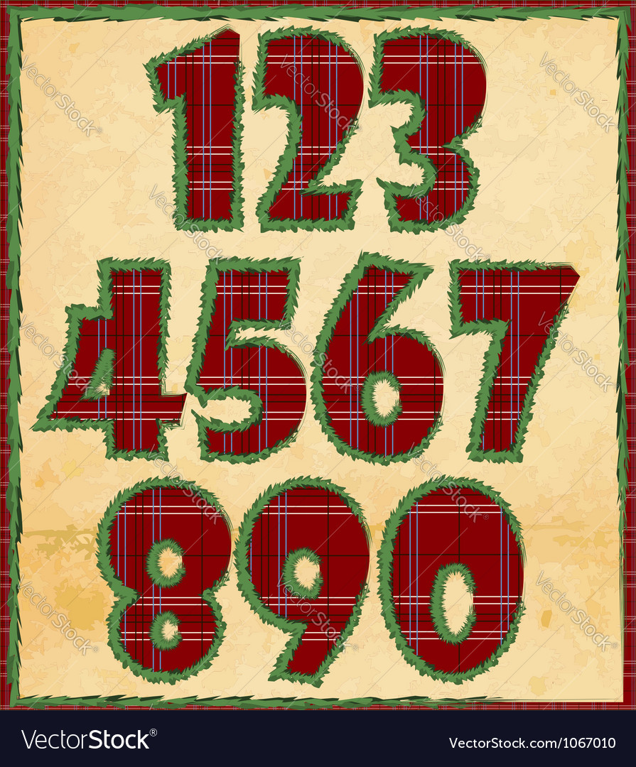 Christmas numbers vector | Price: 1 Credit (USD $1)